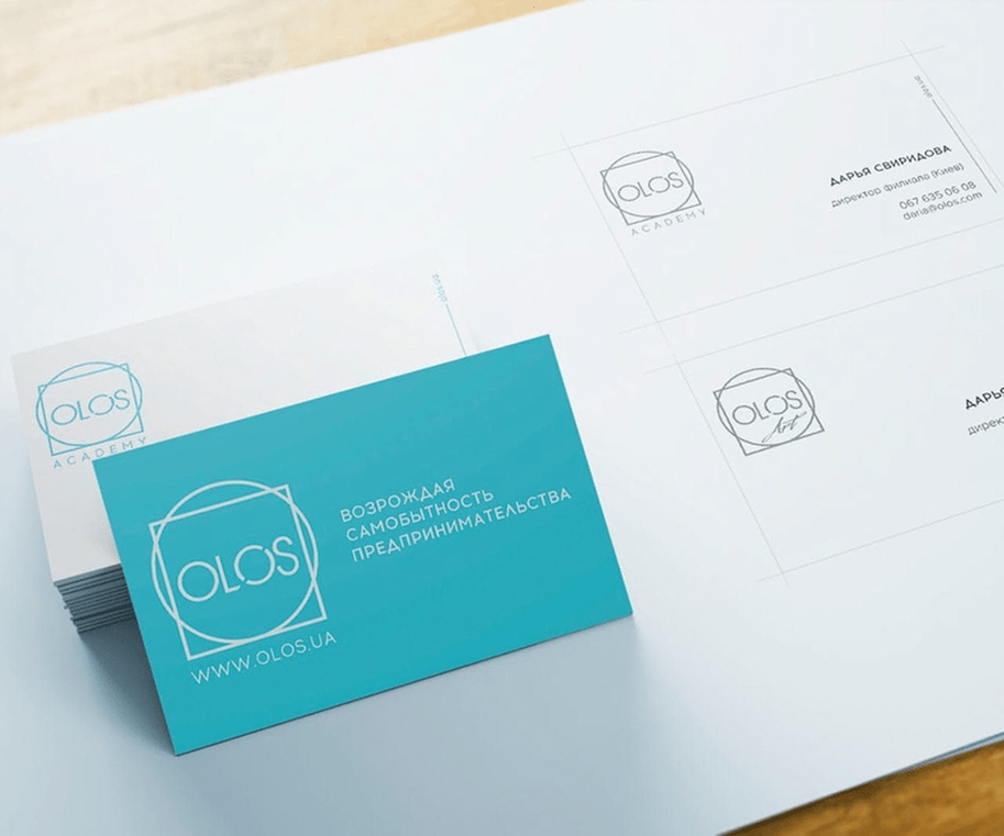 Case: logo design, website and brand book for Olos — Rubarb - Image - 9